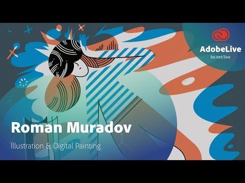 Live Illustration & Digital Painting with Roman Muradov 1/3