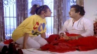 Alludugaru Movie || Shobana & Chandra Mohan Comedy Scene || Mohan Babu, Shobana, Ramya Krishnan
