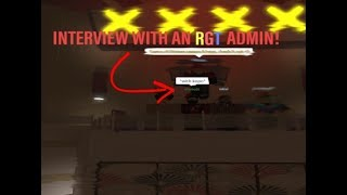 Interview With An RGT Admin! | ROBLOX