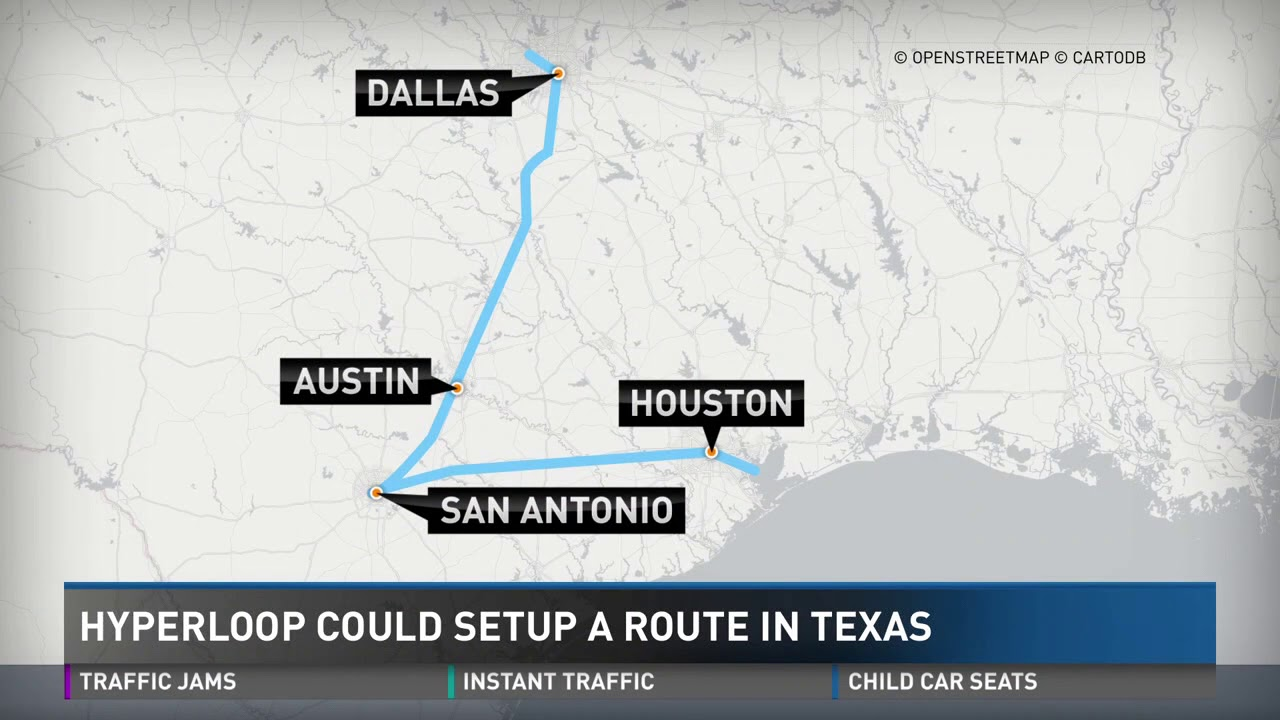 Hyperloop train could get you to major Texas cities in minutes