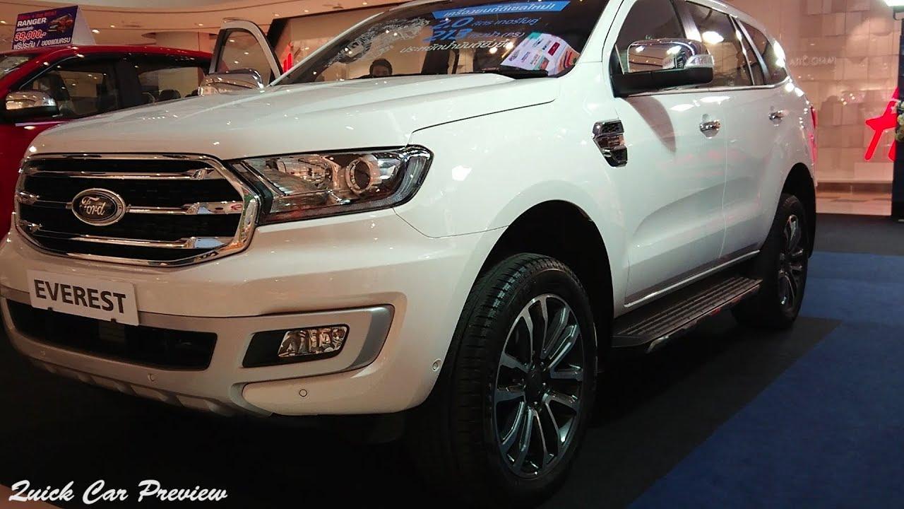Quick Preview 2019 Ford Everest 2 0 Bi Turbo Titanium 4x4 Arctic White Metallic