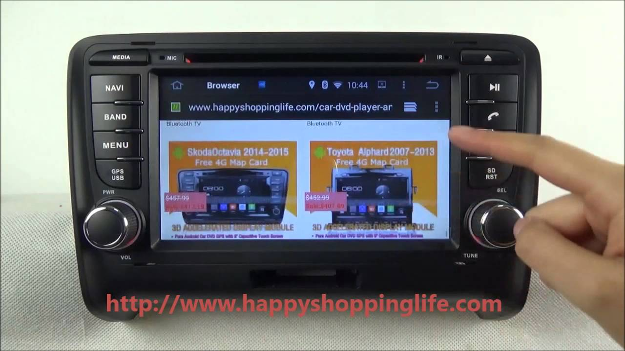 audi tt 2006 2011 android car dvd player gps navigation radio tv wifi 3g youtube. Black Bedroom Furniture Sets. Home Design Ideas
