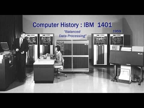 Computer History IBM 1401 Product Announcement Vintage Film 1959 Mainframes 7070, 7090