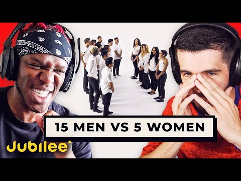 SIDEMEN REACT TO 15 MEN VS 5 WOMEN