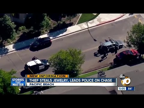 Thief steals jewelry, leads police on chase