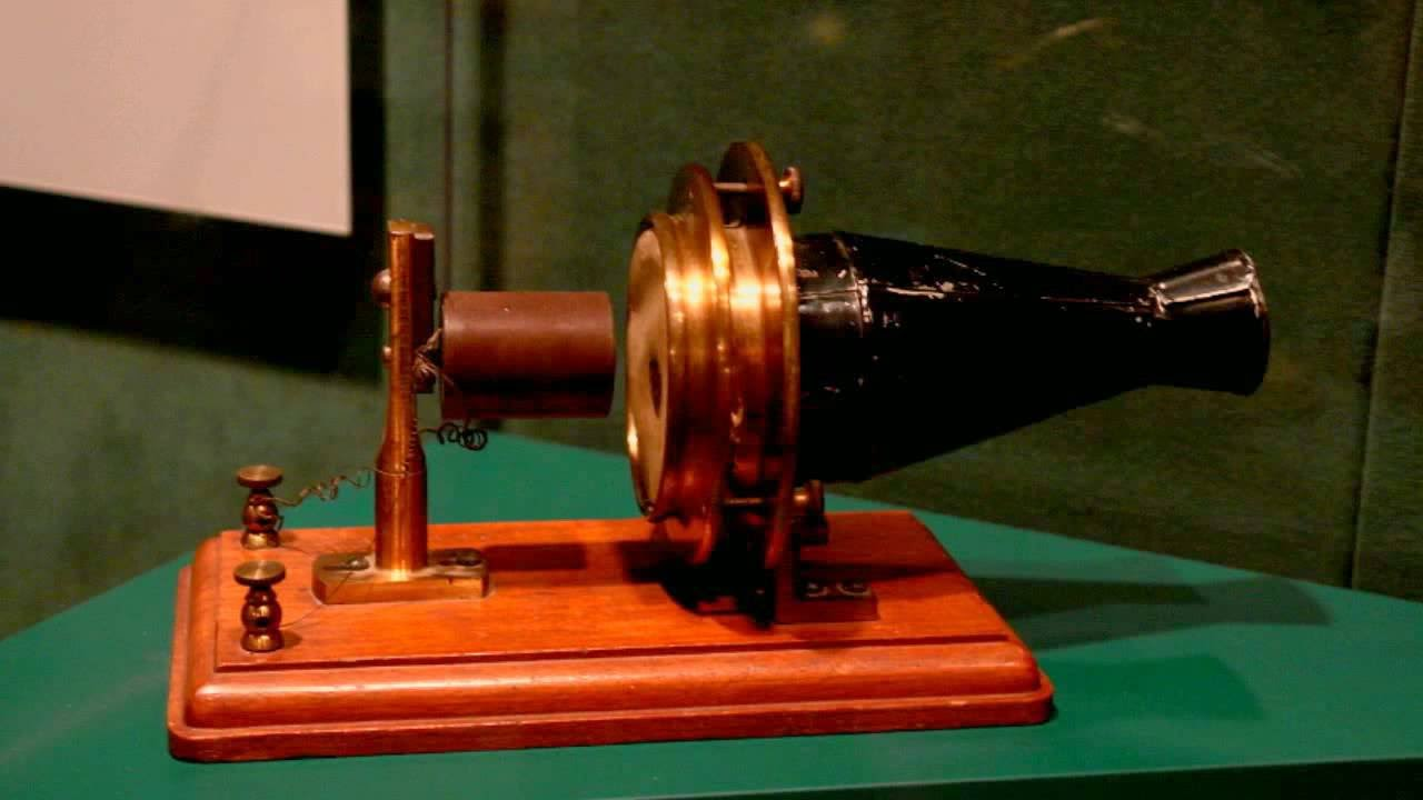 hight resolution of the first telephone in 1876