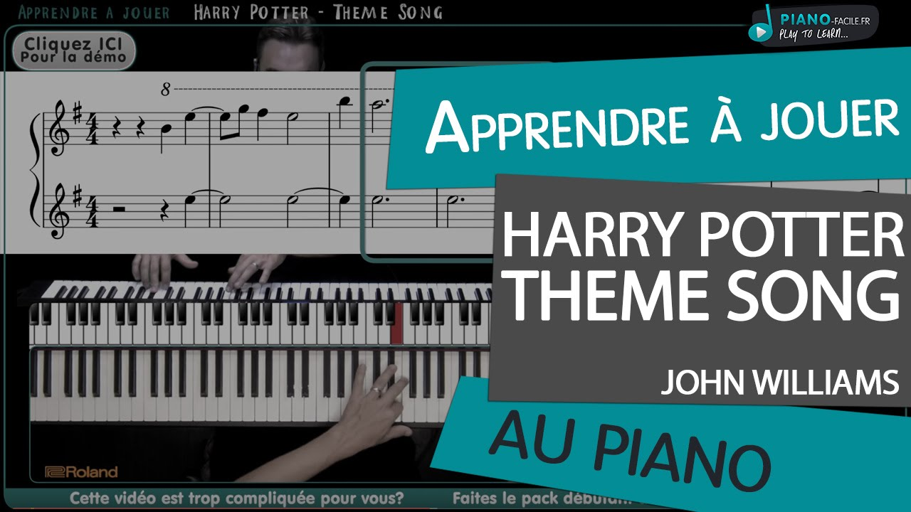 Bien-aimé Apprendre Theme Harry Potter - Piano tuto + partition - YouTube DJ67