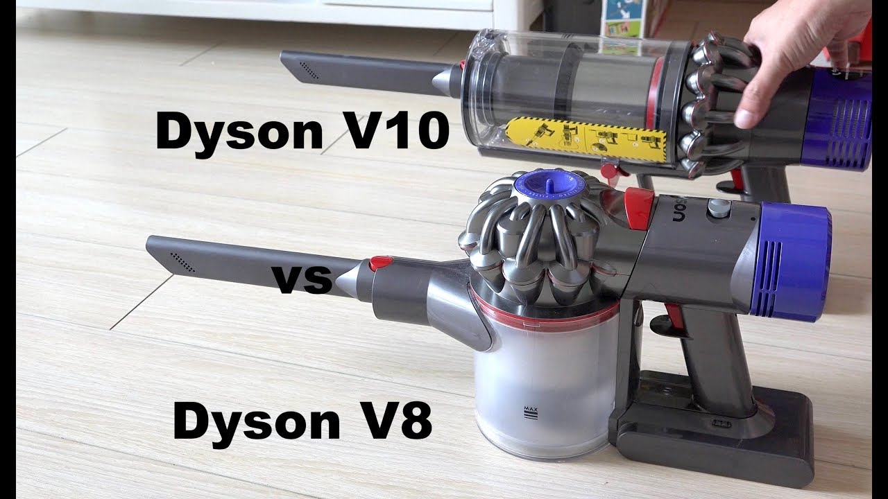 dyson v10 vs dyson v8 vacuum suction power compared. Black Bedroom Furniture Sets. Home Design Ideas