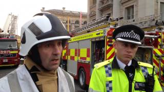 Randolph Hotel fire: fire service and police press conference