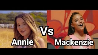 Annie Leblanc vs Mackenzie Ziegler Singing Edition