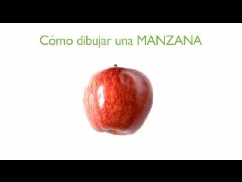 C mo dibujar una manzana frutas dibujadas youtube - Como preparar unas judias verdes ...