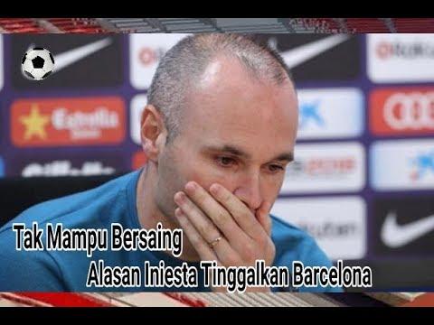Tangisan Iniesta Ketika Tinggalkan Barcelona ...