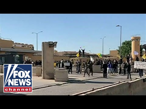 Iraqi protesters storm US Embassy compound in Baghdad