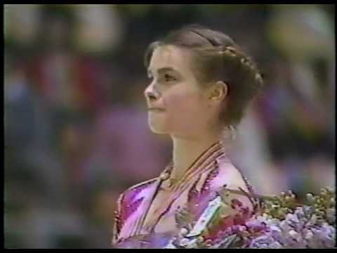 Medal Award Ceremony - 1985 World Figure Skating Championships, Ladies' Event