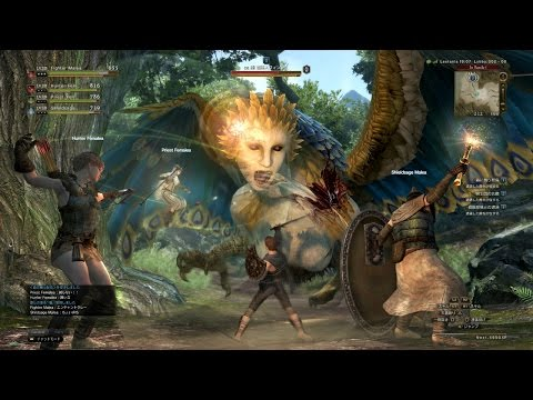 Dragon's Dogma Online Sphinx World Boss and Deaths!