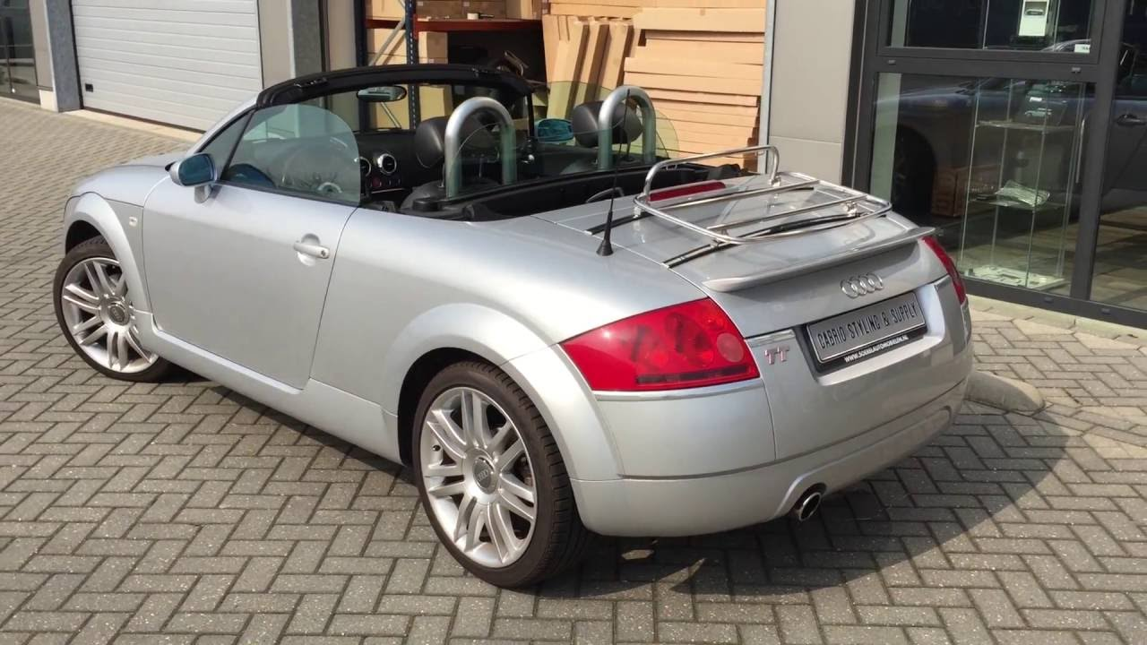 audi tt 8n roadster stainless steel luggage carrier installed by cabrio styling supply youtube. Black Bedroom Furniture Sets. Home Design Ideas