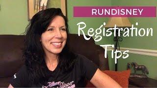 runDisney Registration Tips