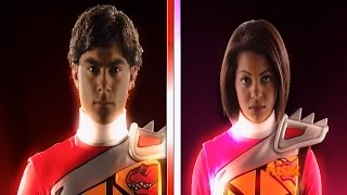"Power Rangers Dino Charge Episode 18 ""Deep Down Under"" - Red and Pink Rangers Morph 2 (1080p HD)"