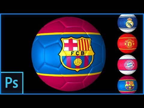 How To Put The Logo Design Of Your Favourite Club On A 3D Football In Photoshop
