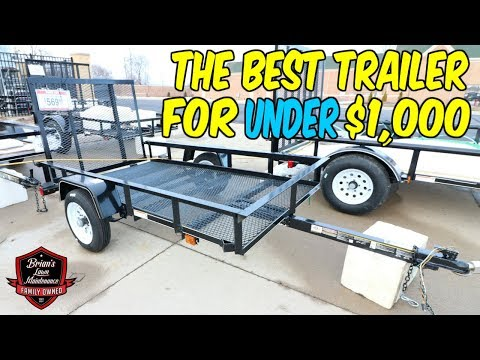 The Best Trailer For UNDER $1,000   Showing My Very First Utility Trailer From Tractor Supply Co!