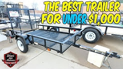 The Best Trailer For UNDER $1,000 | Showing My Very First Utility Trailer From Tractor Supply Co!