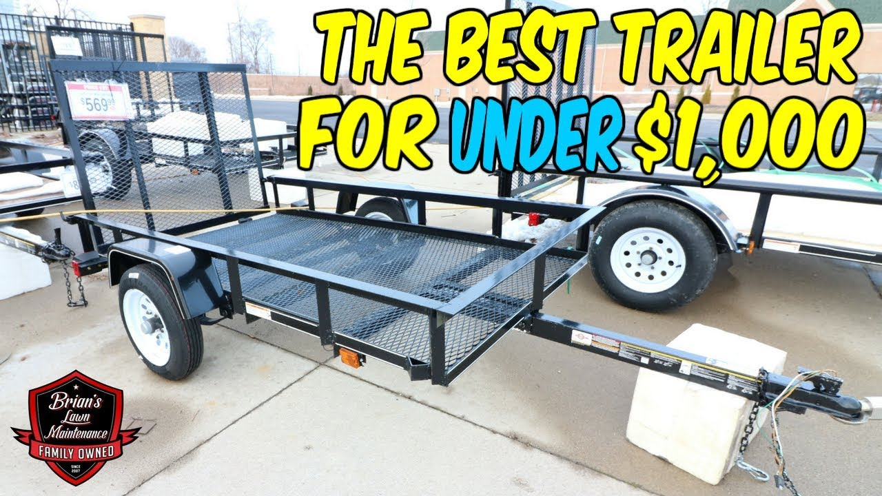 The Best Trailer For UNDER $1,000   Showing My Very First Utility ...