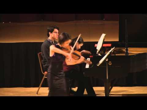 Poulenc Sonata for Violin and Piano. Mari Lee, violin , Mana Tokuno, piano in HD (Simon)