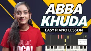 ABBA KHUDA - Easy Piano Chords Lesson | Hindi Christian Song | Yeshu Ke Geet
