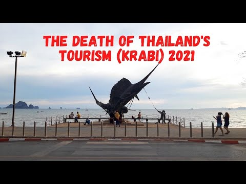 Thailand's Krabi beach deeply affected with no tourist (April 2021)
