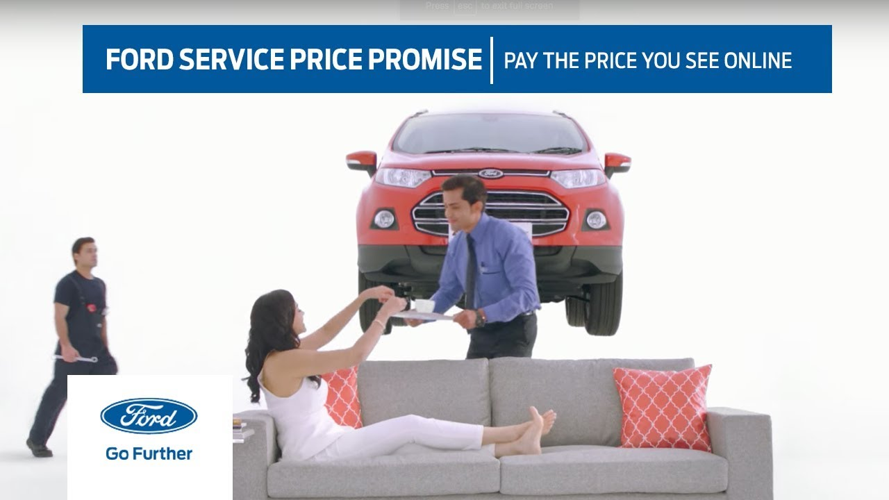 Ford service price promise pay the price you see online ford