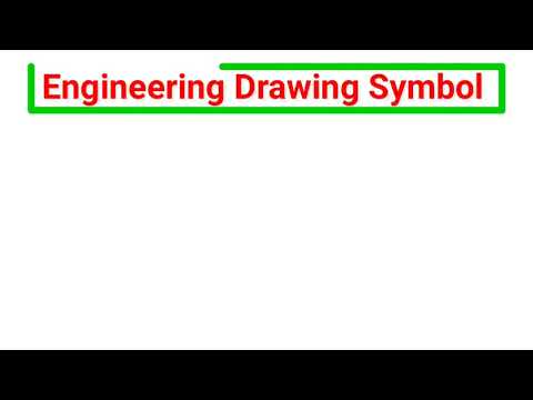 Engineering drawing symbol