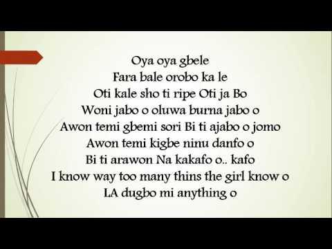 Olamide ft  Burna Boy – Omo Wobe Anthem Lyrics
