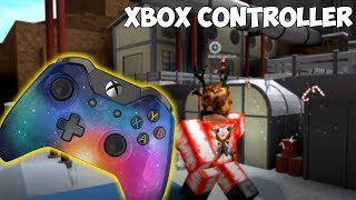 PLAYING ON AN XBOX CONTROLLER!! (Roblox Assassin)