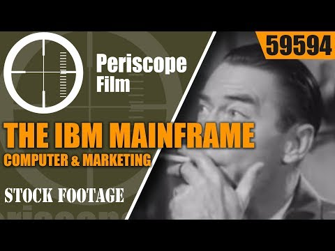 THE IBM MAINFRAME COMPUTER & MARKETING  1960s SALES DATA ANALYSIS FOR BUSINESS 59594 CF