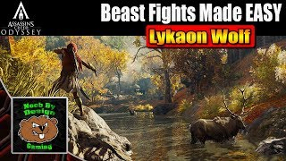 Assassins Creed Odyssey - How to Beat the Lykaon Wolf - Beast Fight made Easy