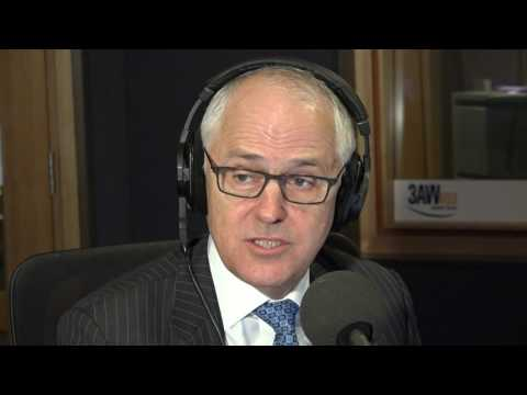 PM Malcolm Turnbull in studio with Neil Mitchell