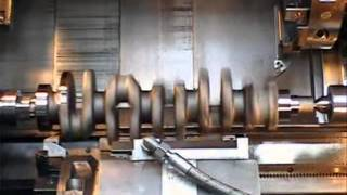 01 Tournage Villebrequin 5 Cylindres - Turning 5 cylinder crankshaft.wmv