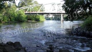 Eugene Oregon - River - Footbridge -  Best Shot  - HD Stock Footage