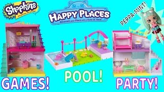 Happy Places SEASON 2 Game & Laundry, Party Studio, AND Pool & Sundeck Rooms Review!