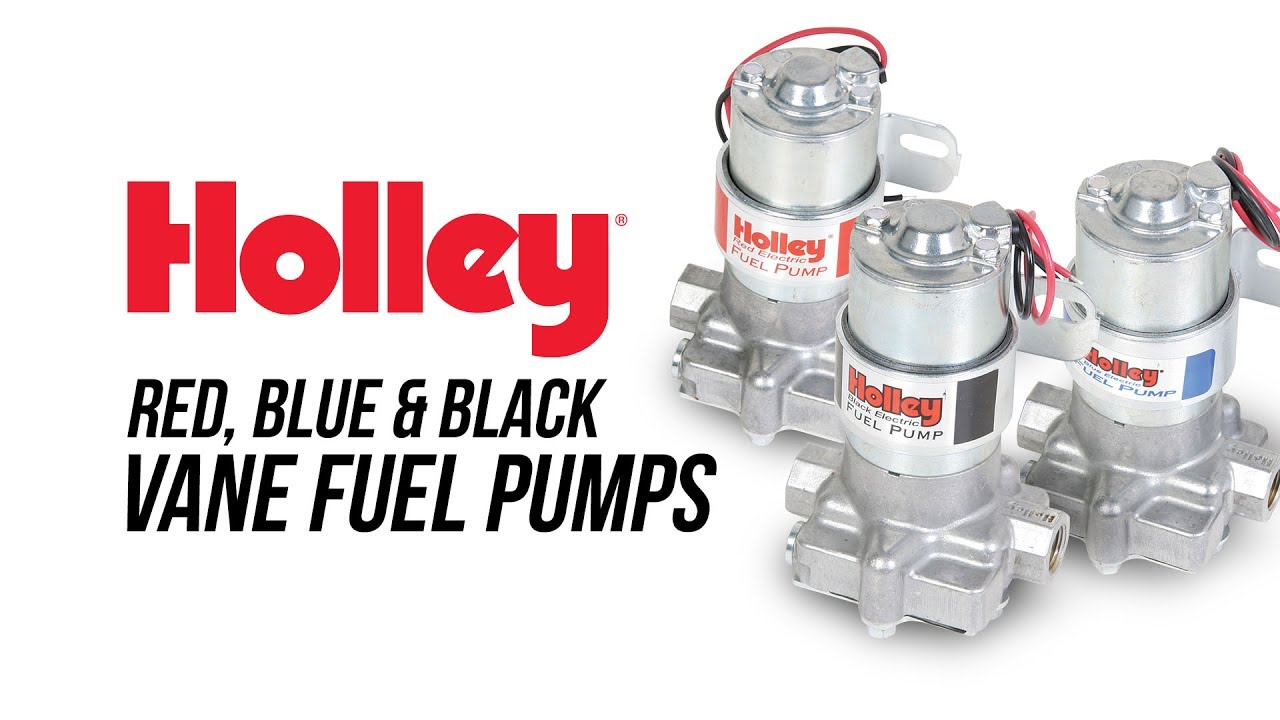 Holley Red, Blue & Black Vane Fuel Pumps - YouTube on hei distributor wiring diagram, battery kill switch wiring diagram, msd distributor wiring diagram, line lock wiring diagram, electric fan wiring diagram,