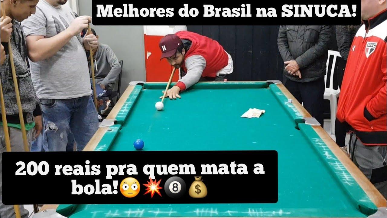 200 reais pra quem matar a BOLA na SINUCA!🎱💥💰😳