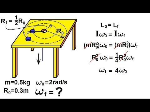 Physics - Mechanics: Angular Momentum (10 of 11) Ex. 9: Circling Hockey Puck