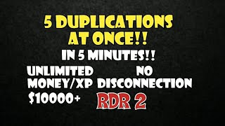 (NO DISCONNECTION) UNLIMITED MONEY XP GLITCH - RED DEAD ONLINE - RED DEAD REDEMPTION 2 ONLINE - RDR2