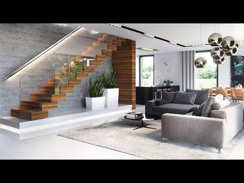 Fabulous Living Room Staircase Interior Decor Ideas