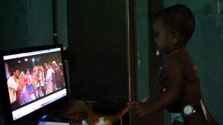 """8 months old baby boy dancing for the tamil """"Bad Boy"""" song"""