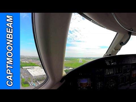 Cessna Citation XLS Landing Teterboro With ATC