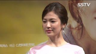 "[SSTV] 송혜교(Song Hye kyo) ""모성애 연기, 억지로 하지 않았다"""
