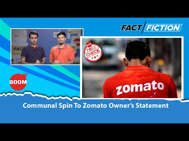 Communal Spin To Zomato Owner's Statement
