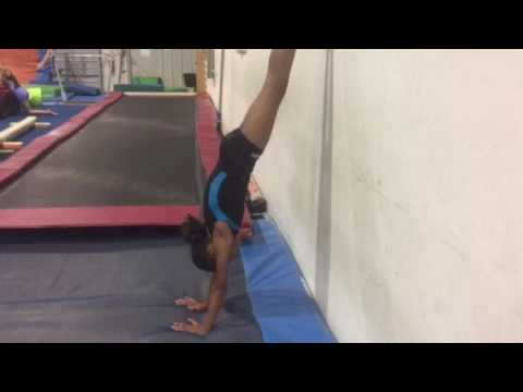 3/4 handstand against wall  youtube