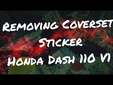 Honda Dash V1 Restoration Part 2 - Removing Coverset Stickers -